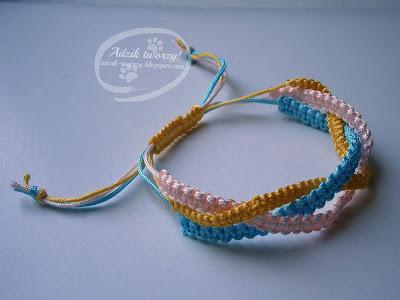 bransoletki ze sznurka jak zrobić