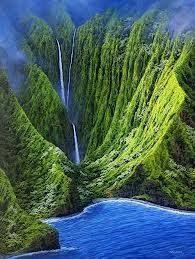 gambar air terjuan tertinggi di dunia 8 Pu'uka'oku Falls_Amerika Serikat