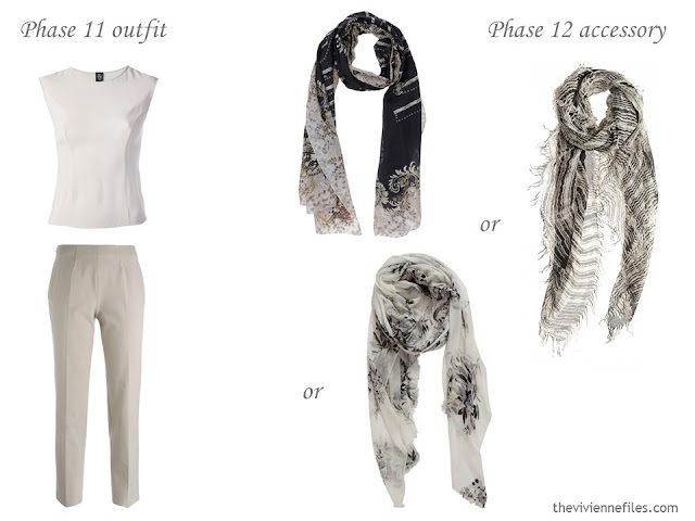 How to add accessories to a capsule wardrobe - scarves