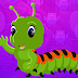 Games4King - Green Worm Escape Game