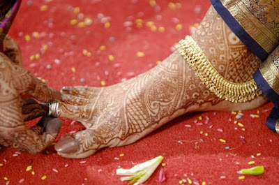 Toe ring in Indian Wedding