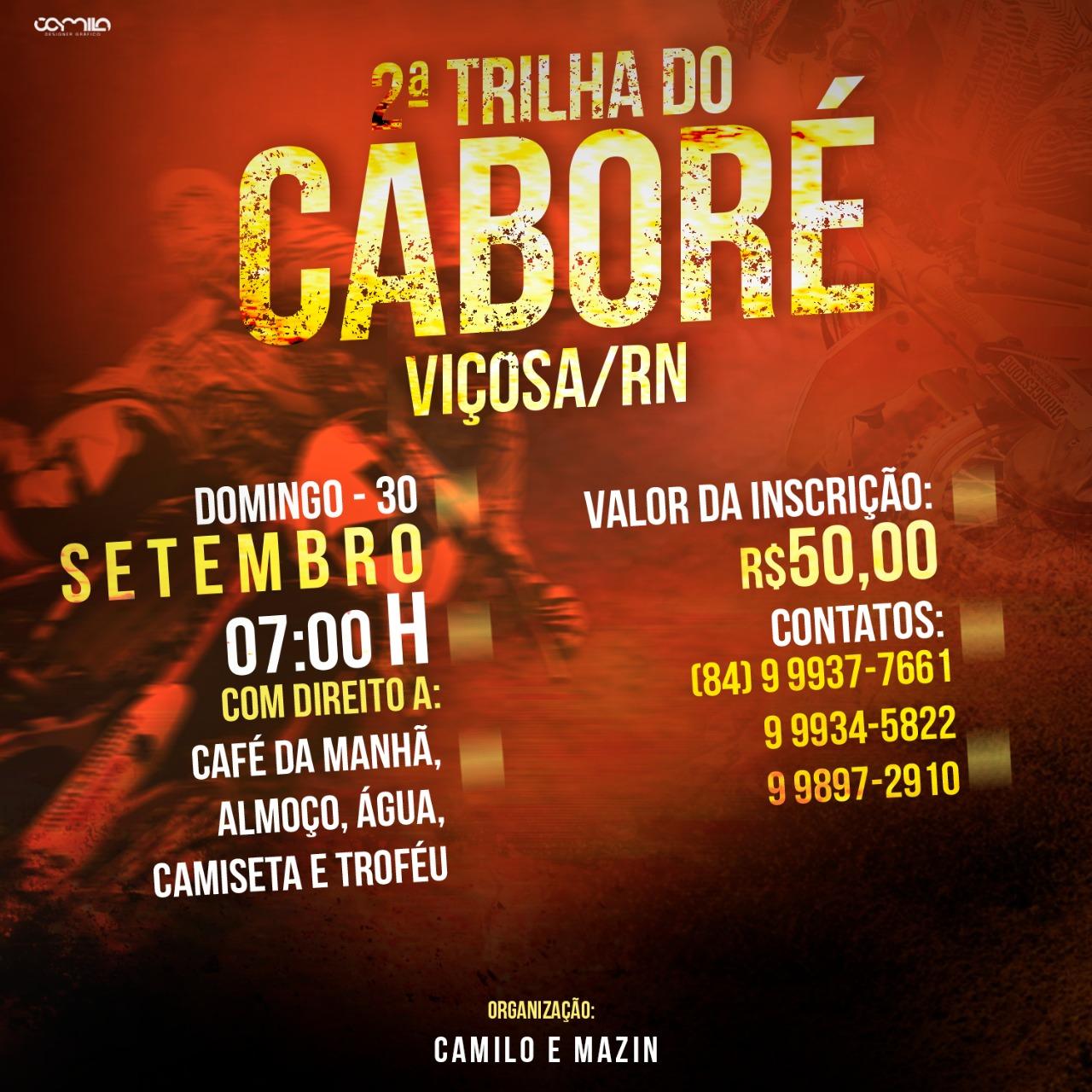 2ª TRILHA DO CABORÉ / VIÇOSA-RN