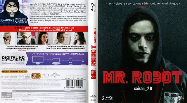 blu ray jaquettes blu ray mr robot saison 2. Black Bedroom Furniture Sets. Home Design Ideas