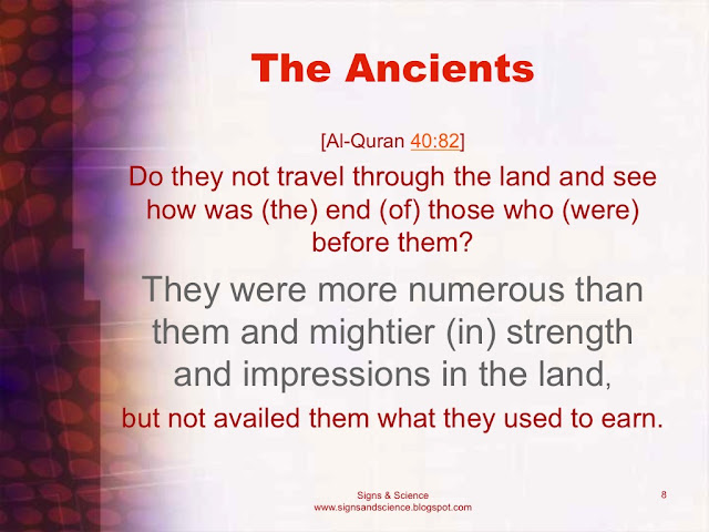 Ancients were mightier and more numerous but not availed them what they used to earn