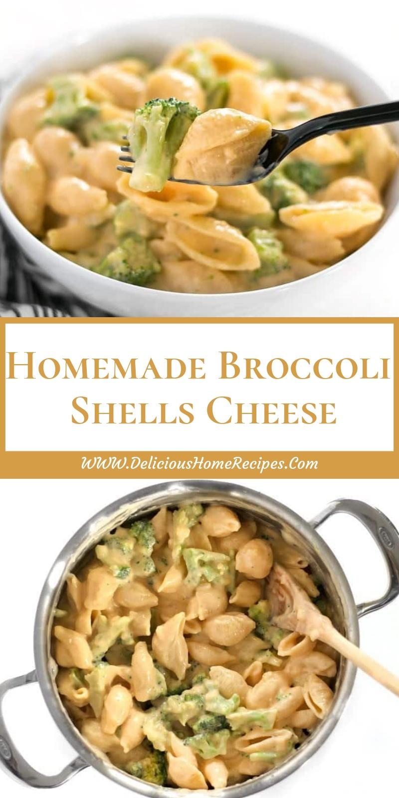 Homemade Broccoli Shells Cheese