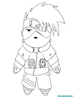 Kakashi Printable Kids Coloring Pages Naruto Shippuden