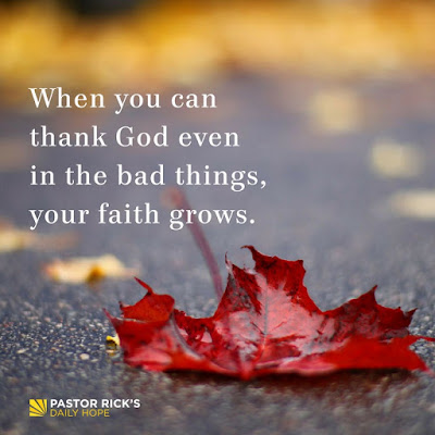 Can You Thank God When Life Seems Bad? by Rick Warren