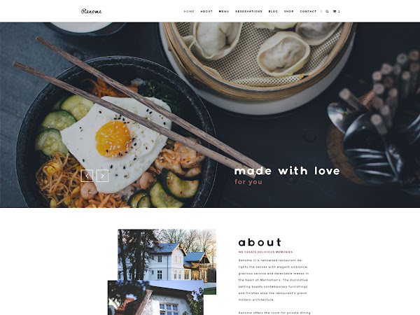 Download Renome PSD Template For Restaurant  Free