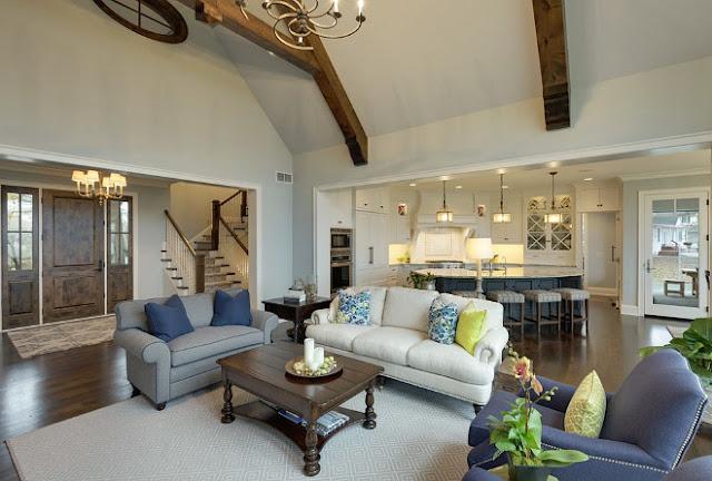 Classic design for Lake house living room ideas