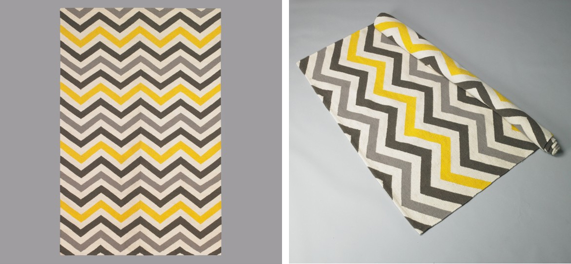 {BLACK. WHITE. YELLOW.}: Dwell Studio Zig Zag Rug