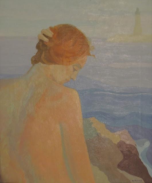 Cristina Alonso mujer desnuda pintura impresionista mar
