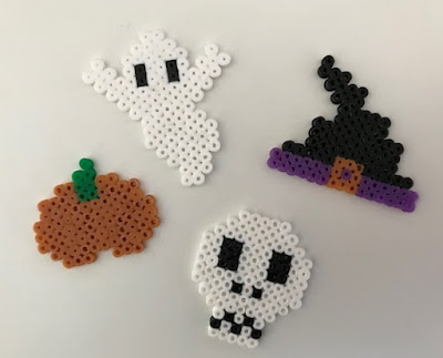 Mini Hama bead Halloween designs