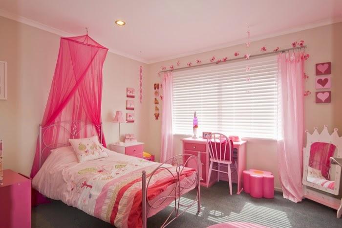 Dormitorios color rosa para ni a colores en casa for Cuarto de nina rosa palido