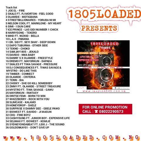 1805loaded Ft Dj Alhaji Sars Whyte 1805loaded Monthly Mixtape September Edition vol1 (Afrobeat mix ) - www.mp3made.com.ng