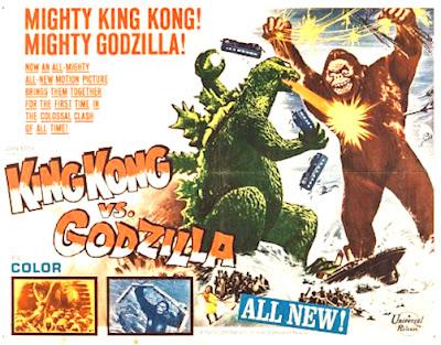 King Kong vs Godzilla movie poster, white background