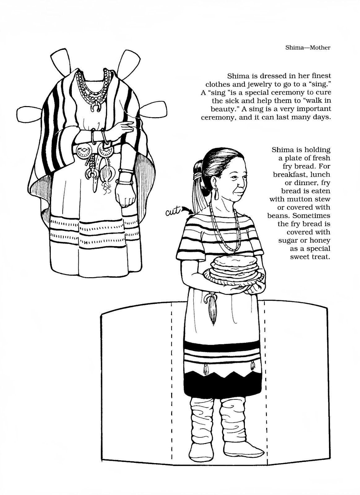 Mostly Paper Dolls Too!: DOLII, A Navajo Girl Paper Doll