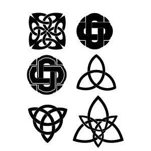Vectores símbolos celtas