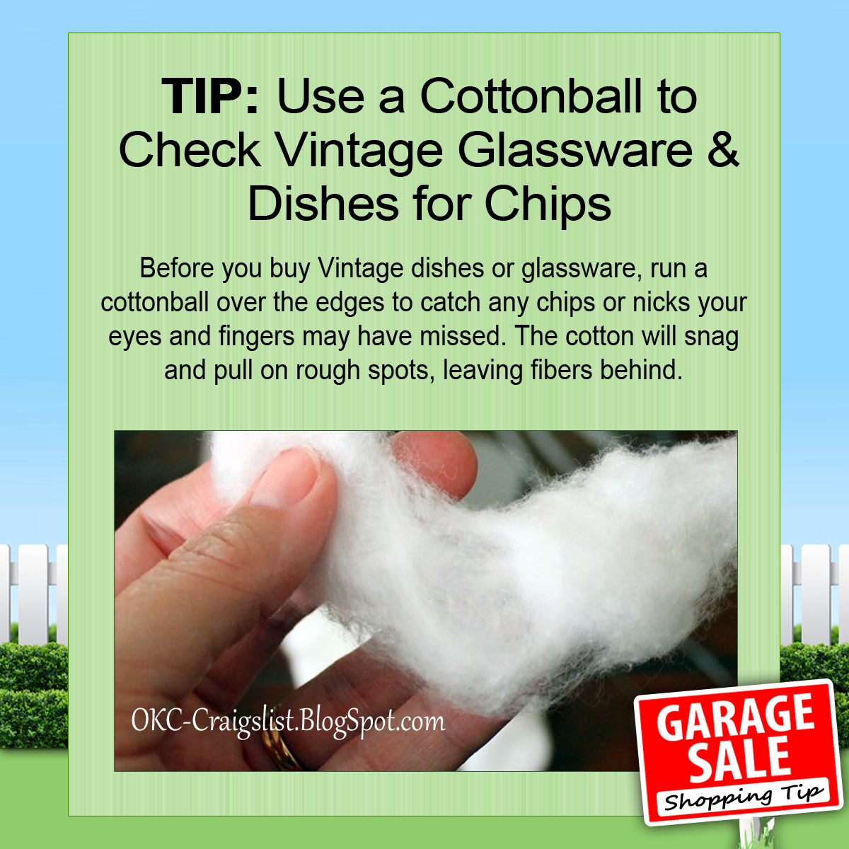 GARAGE SALE TIP: Don't Buy Vintage Dishes or Glassware Without Doing This!