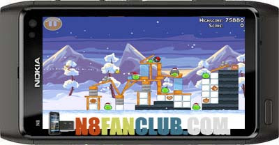 Angry birds mine and dine update v1. 6. 0 symbian^3 nokia n8.