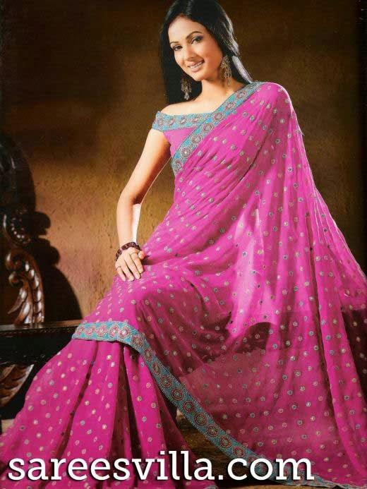 7dd178342e1 Off shoulder saree blouse designs