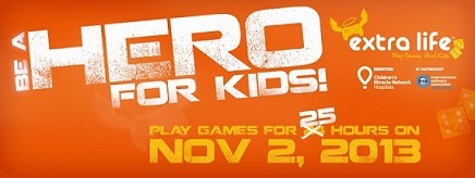 Support charity Play games for 25 hours nonstop November 2