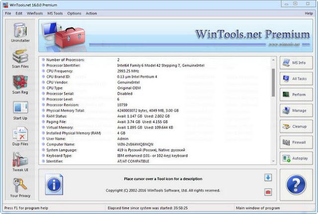 WinTools.net Premium Full Serial keygen