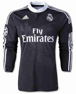 jual online baju bola, jersey real madeid lengan panjang, grade ori, ready baju bola real madrid