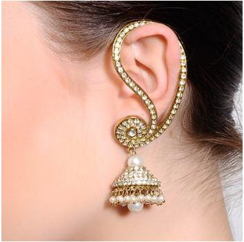 Image result for fancy earring wearing lady