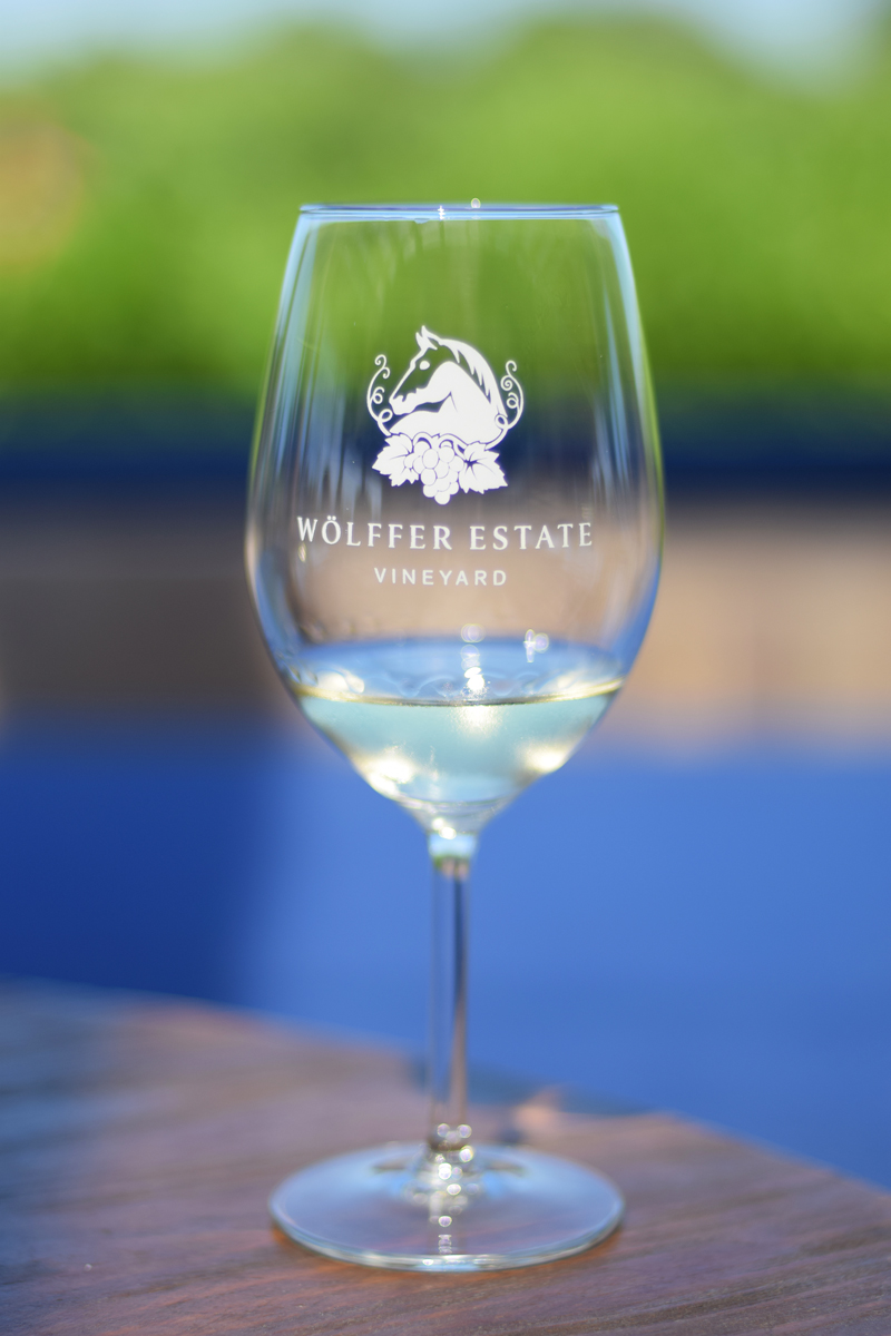 Wölffer Estate Vineyard flight in Sag Harbor.