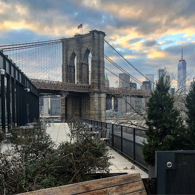 The view of Brooklyn Bridge from DUMBO