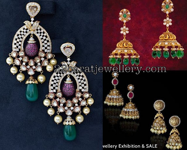 Heavy Chandbalis and Nakshi Jhumkas