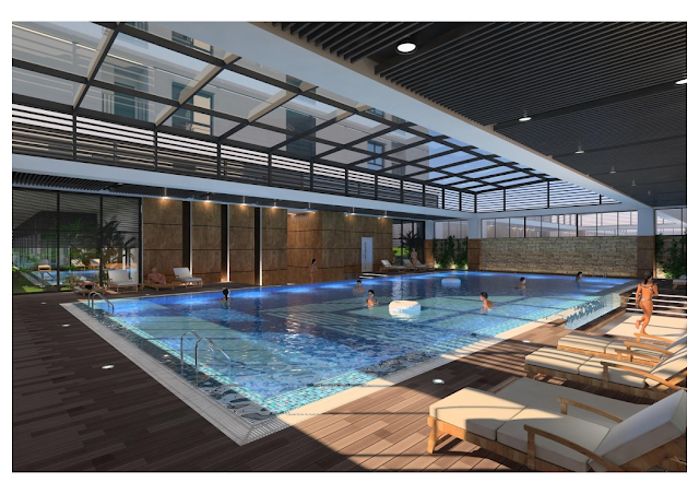 Bể bơi 4 mùa chung cư ICID Complex