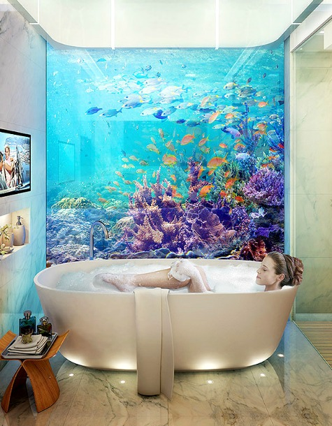 Houseboat With Underwater Ocean Views Coastal Decor