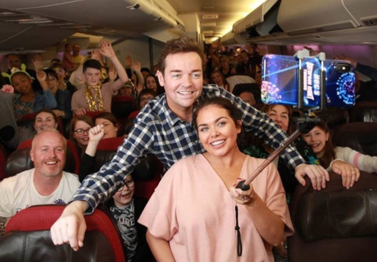 Stephen Mulhern Scarlett Moffatt Saturday Night Takeaway plane