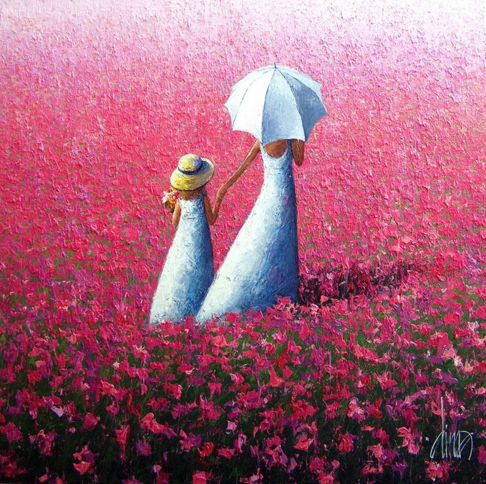 Im genes arte pinturas paisajes modernos en llamativos - Colores llamativos ...