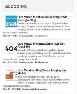 Membuat Widget Postingan Pada Blog Berdasarkan Label