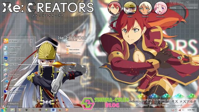 Re:Creators Theme Win 7 by Enji Riz Lazuardi