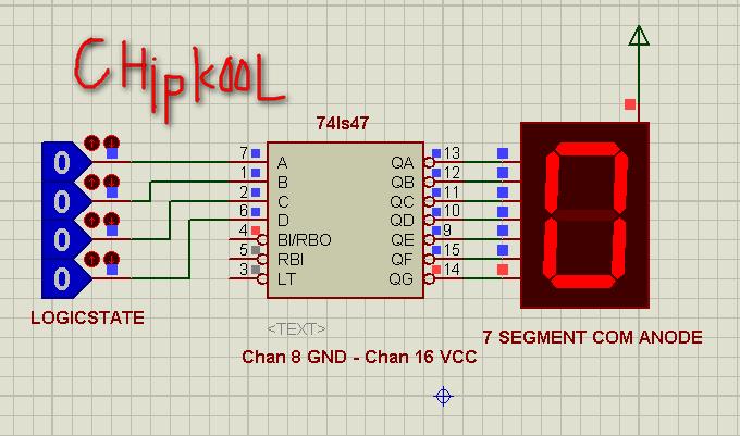 SN74LS47N BCD a 7 segmenti decodificatore 74ls47 Logic IC