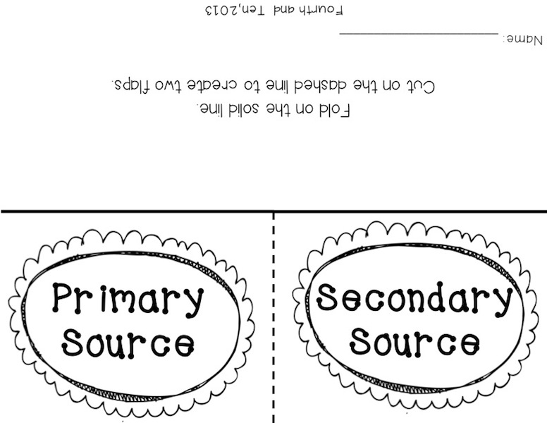 Fourth and Ten Primary and Secondary Source Freebies