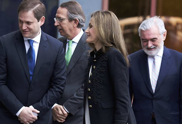 Queen Letizia attends the meeting of BBVA Advisory Board