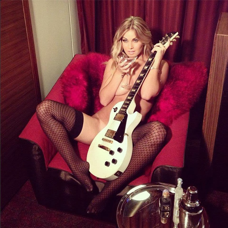 Heavy Metal Babe With Guitar