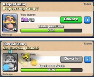 Cara Mendapatkan Gold Clash Royale dengan donasi clan