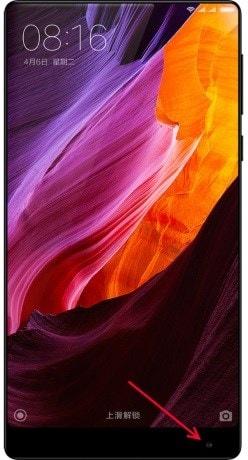 câmera do smartphone Mi Mix da Xiaomi