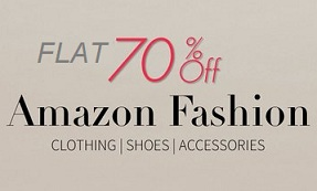 Flat 70% Off on Men & Women Clothing | Footwear | Watches | Bags | Jewellery | Bags & Luggage @ Amazon