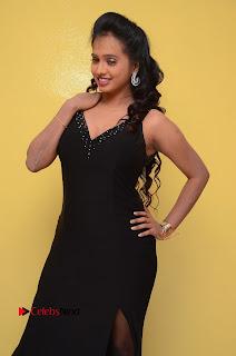 Actress Nakshatra Pictures in Black Long Dress at Miss South India 2016 Press Meet  0056.jpg