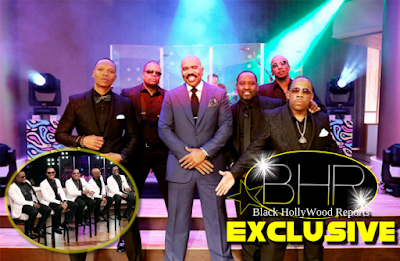 "Hit Group New Edition Visits The Steve Harvey Show For ""Men Of 90's R&B Week"""