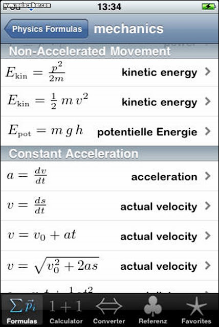 calculadora cientifica Phy – Physics formulas and calculator