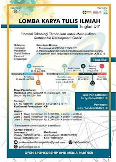 LKTI Amikom Scientific Competition Tingkat DIY Mahasiswa 2018