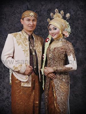 gaun pengantin muslimah jawa