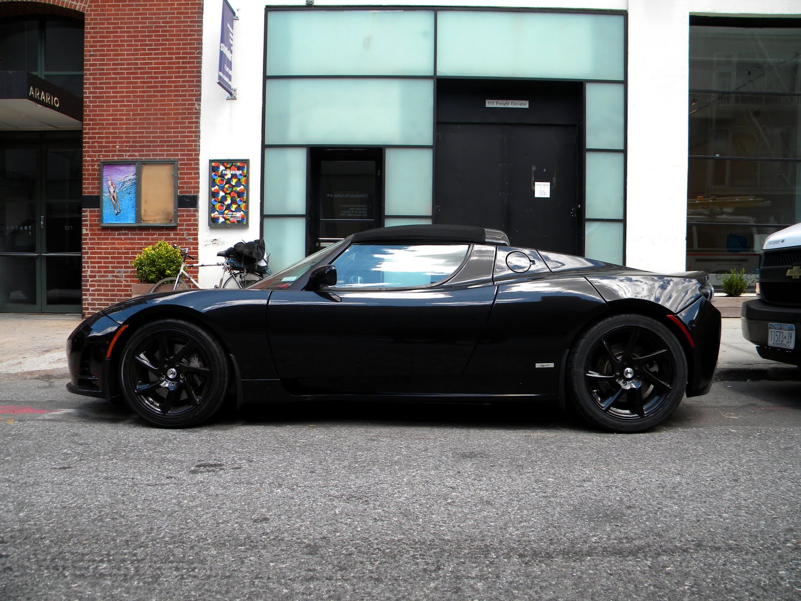 Black Tesla Roadster